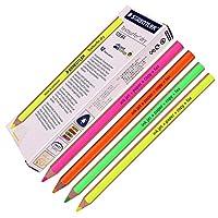 スケッチを書くためのStaedtler Textsurferドライ蛍光ペンシルインクジェット、紙、コピー、ファックス(12ミックスカラーのパック)