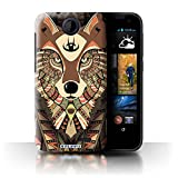 Stuff4 Phone Case for HTC Desire 310 Aztec Animal Design