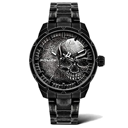 Police Herren Analog Quarz Uhr mit Edelstahl Armband PL15715JSQU.78M