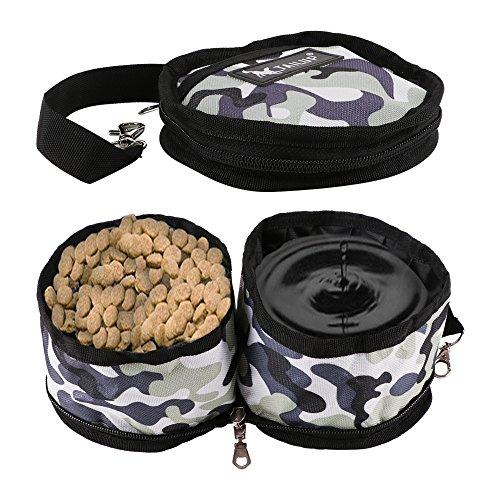 RCRuning-EU Plegable Perro de Viaje Bowl, Gato de Animal doméstico Alimentación de...