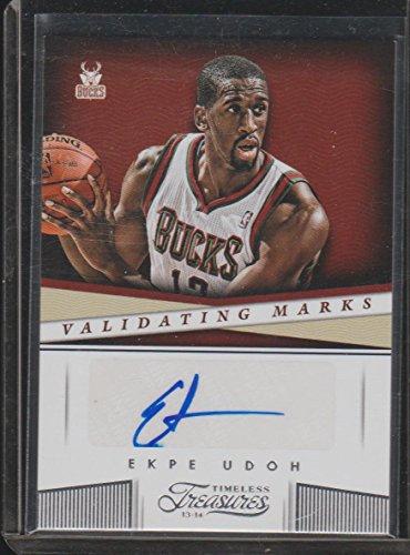 2013-14 Timeless Treasures Ekpe Udoh Bucks Autographed Basketball Card #22