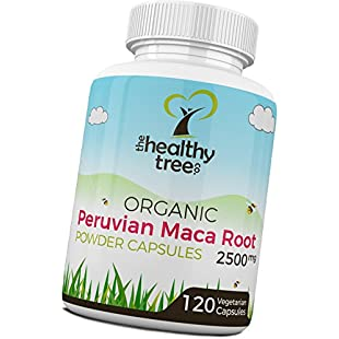 Organic Maca Capsules - High Strength 2500mg per Capsule - Increase Vitality with Pure Maca Root Powder Capsules by TheHealthyTree Company:Tytoftetsi