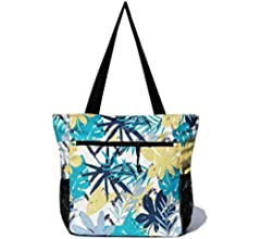 Original Floral Water Resistant Tote Bag Large Shoulder Bag with Multi Pockets for Gym Hiking Picnic Travel Beach Daily Bags Ilex fruit 1