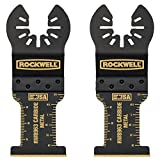 Rockwell RW8963.2 Tools Sonicrafter Oscillating Multitool Extended Life Carbide End Cut Blade (2 Pack), 1-3/8'