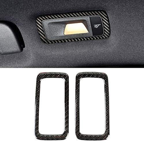 Panel 2 piezas de fibra de carbono posterior del coche de la luz de techo de la etiqueta engomada for Porsche Macan Alta calidad