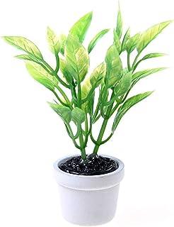 2PCS 1:12 Miniature Green Plants Decoration Dollhouse Furniture Access BRPF