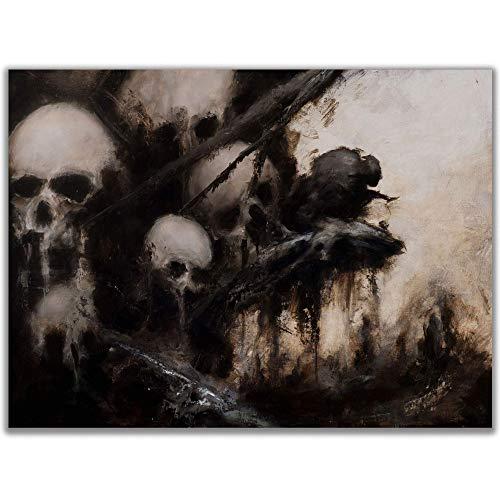 ShadowMyths Skull Posters for Wall, Skull Artwork for Walls, Skull Tree Decorations, Gargoyle Print, Horror Prints Wall Art, Dark Fantasy Art, Sizes 11x14, 11x17 Available for Tree of Sorrows Print