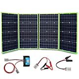 XINPUGUANG 200W 12V Portable Solar Charger Foldable Solar Panel Generator with Charge Controller for Battery Camping Travel RV Van...