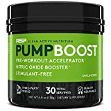RSP Pump Boost - Stimulant Free Pre Workout & Nitric Oxide Booster, N.O. Boost for Enhanced Pumps, Energy Boost, and Improved Training Endurance