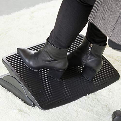 HEWEI Reposapiés abatible balancín balanceado de Goma Antideslizante Dispositivo de descompresión ergonómico Proporciona una Postura Adecuada para apoyar la Oficina en el hogar Negro
