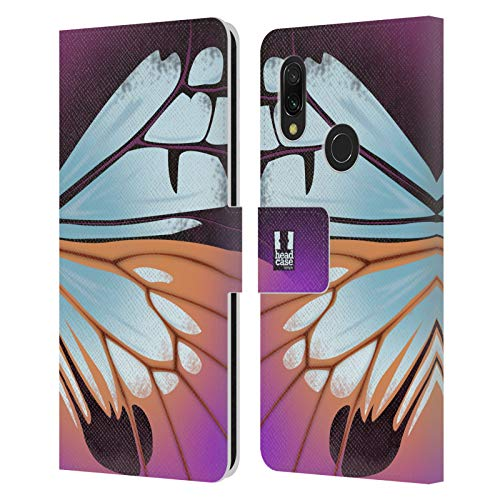 Head Case Designs Parantica Sita Illustrated Butterfly Wing Leather Book Wallet Case Cover Compatible for Xiaomi Redmi 7 (2019)