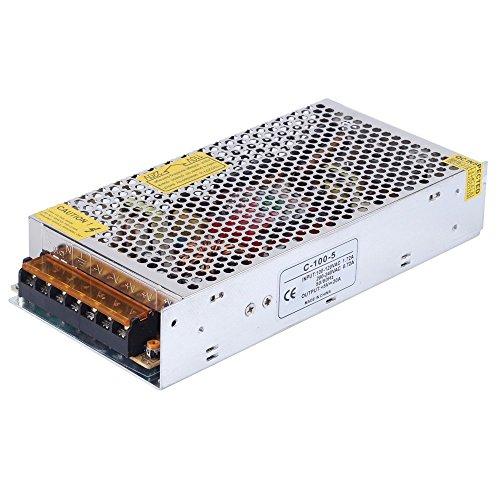 CHINLY AC 110/220V Zu DC5V 20A 100W LED-Treiber Schalter Netzteil Transformator Stromversorgung für WS2811 2801 WS2812B WS2813 APA102 LED-Leiste