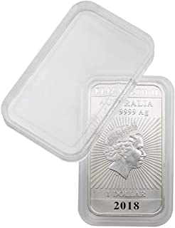 100 x Lindner Coin Capsules Caps Coincapsules Special for 1 ½ Ounce Canada Polar Bear (silver), Arctic Fox, 38.4 mm - internal height: 4,5 mm