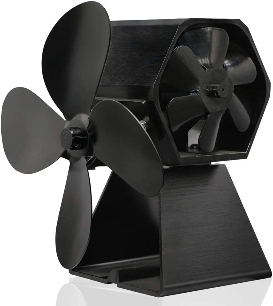 Fireplace Fans Heat Powered Same day shipping Stove Max 41% OFF Black Fan New 4 Bla