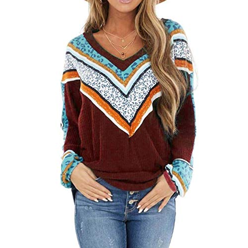 4XL 5XL New V Neck Printing Stitching Knit Sweater Spring and Autumn Fashion Large Size Women Loose Casual Boutique Knit Sweater