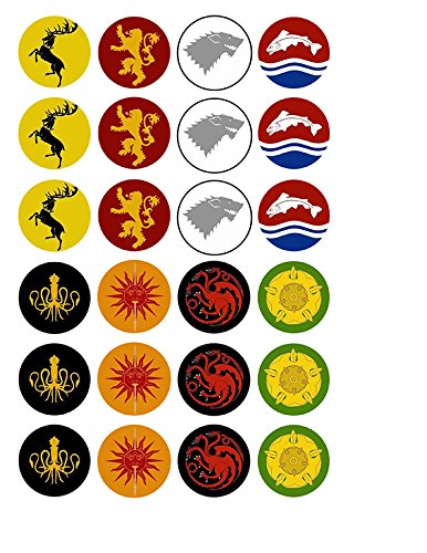 Game of Thrones House Sigils ~ Cupcake Topper ~ Edible Frosting Image