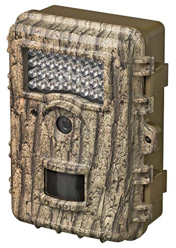 Bresser Full HD Überwachungskamera Wildkamera 55° 8MP mit wasserdichtem Gehäuse und infrarot LED Beleuchtung für Foto und Videoaufnahmen bei Tag und Nacht (Mini USB, SD-Kartenslot)