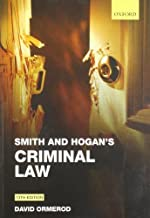 Smith and Hogan Criminal Law 13th edition by Ormerod, David (2011) Paperback