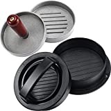 2 Pieces Burger Press Set, Includes Non-Stick Hamburger Patty Maker with 3 Sizes Patty Molds, Hamburger Press with Detachable Handle for Making Burgers Barbecue Kitchen Supplies