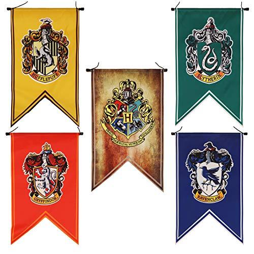 Harry Potter Komplettes Hogwarts-Haus-Wandbanner, Ultra Premium Indoor Outdoor Party Flagge – Gryffindor, Slytherin, Hufflepuff, Ravenclaw (50,8 cm)