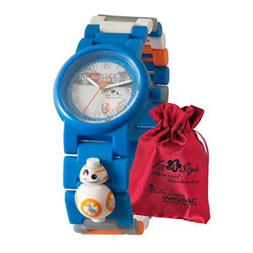 Lego Star Wars BB-8 Kinder Uhr 8020929 Armbanduhr Analog mit Säckchen ULE8020929 Analoguhr