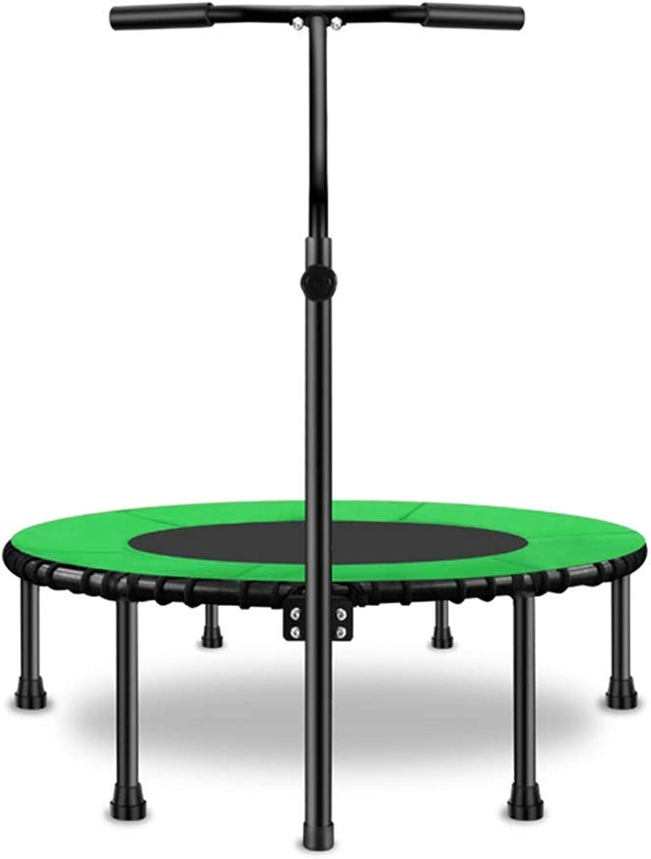 GHHZZQ Trampolin Für Kinder & Erwachsene Mit Haltegriff Hhenverstellbarer Gewichtsverlust Leise Indoor Jumping Workout Für Fitness-Training (Farbe   Grün, Größe   100cm)