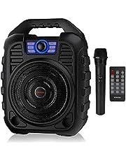 EARISE T26 Altavoz Bluetooth con sistema PA portátil con micrófono inalámbrico, máquina de karaoke recargable con radio FM, grabación de audio, compatible con tarjeta TF/USB, perfecto para fiestas