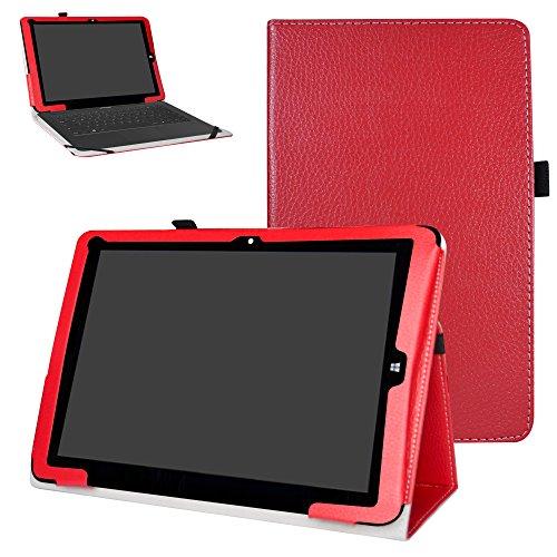 Mama Mouth Chuwi hi12 Custodia, Slim Sottile di Peso Leggero con Supporto in Piedi Caso Case per 12  Chuwi Hi12 Windows 10 & Android 5.1 Dual System Tablet PC,Rosso