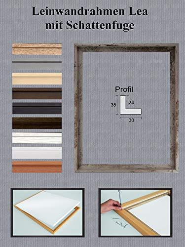 Lea MDF Leinwandrahmen mit Schattenfuge 50 x 70 cm Größe frei wählbar erhältlich in 10 Farben Hier Beige Vintage