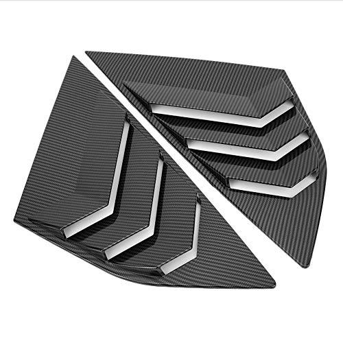 Bigking Persiana de la Ventana Trasera, Estilo de Fibra de Carbono La ventilación del Obturador de la Ventana Trasera se Adapta a Focus ST RS MK3