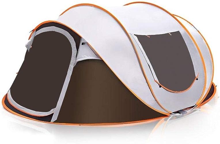 Lcxligang Famille Voyage Tente Tente De Plage Pop-Up Tente Tente De Plage 4-6 Personne Tente Famille avec Tente Sac de Transport