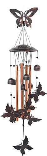 BLESSEDLAND Papillon carillons-4 Creux Tubes en Aluminium -5 Cloches Vent 7 Papillons-Vent Chime avec s Crochet pour ...