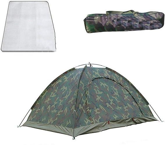 GZW001 Tente de Camping extérieur sous la Pluie, Double Camping Petite Tente de Camouflage de Prougeection Solaire Anti-moustiques