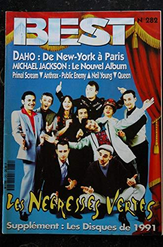 BEST 282 JANVIER 1992 COVER LES NEGRESSES VERTES DAHO MICHAEL JACKSON QUEEN