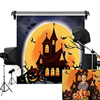Kate 2.5x2.5m ハロウィン 背景布 かぼちゃのランプ こうもり 魔女 写真 背景 撮影用 背景 布 カスタマイズ可能背景