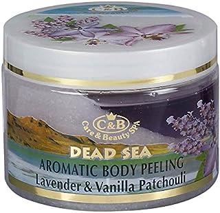 ラベンダーとバニラ?パチョリの香りの全身用剥がし― 350mL 死海ミネラル Aromatic Body Peeling Lavender & Vanilla Patchouli