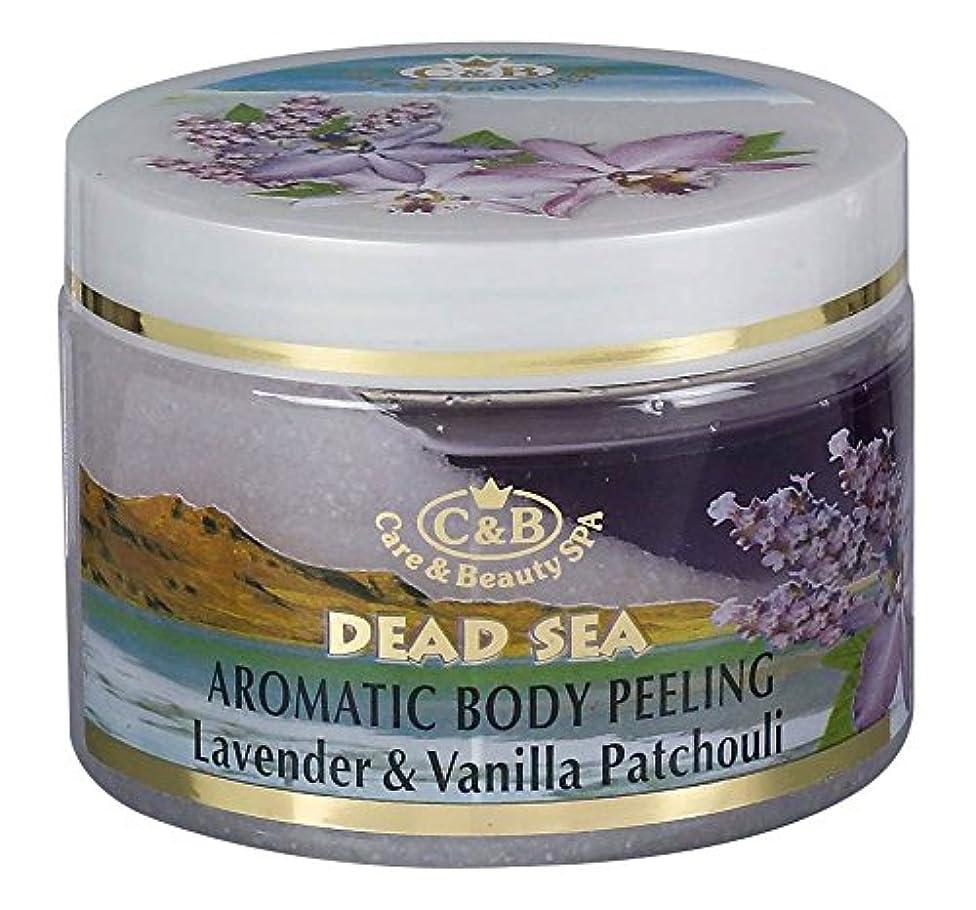 巨大なするだろう悪党ラベンダーとバニラ?パチョリの香りの全身用剥がし― 350mL 死海ミネラル Aromatic Body Peeling Lavender & Vanilla Patchouli