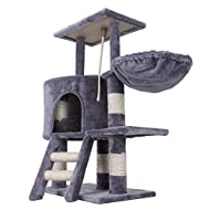 Confidence Pet Deluxe Cat Tree Scratch Post Climbing Tower Play Frame Grey