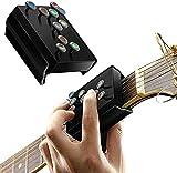Soulage les douleurs au doigt : l'outil d'apprentissage de la guitare a un design de bouton rond au lieu de presser la corde avec la main gauche, ce qui réduit les douleurs aux doigts. Apprendre à la guitare dès les premières phases de la guitare, vo...