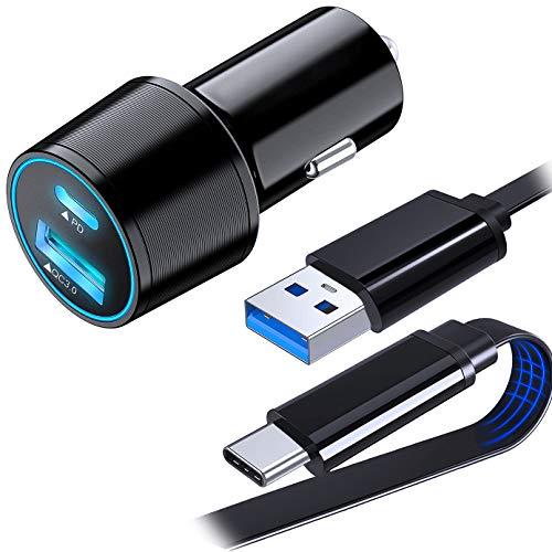 QC 3.0 - Cargador de coche rápido y cable USB tipo C...