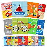Bammax Giochi Bambini, Set di Puzzle di Plastica del Traffico, Gioco Educativo per Bambini, Puzzle Giocattoli Colorati 86 Pezzi (Otto Serie di Puzzle 2-5 Anni Bambini, Ragazza Ragazzo Regalo