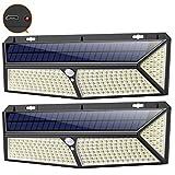 Luz Solar Exterior, [2020 Más Brillante Modelo 288 LED 2500 Lumens 2-Paquete] iPosible 270 °Iluminación Foco Solar con Sensor de Movimiento...