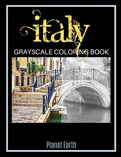 Italy Grayscale Coloring Book