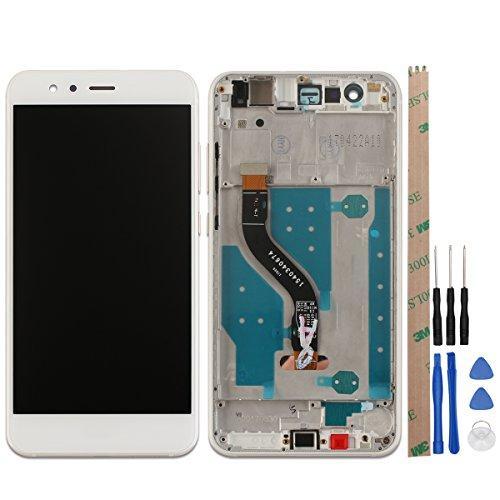 Ocolor di Riparazione e Sostituzione per Huawei P10 Lite LCD Display + Touch Screen Digitizer con Utensili Inclusi (Bianca +Telaio)