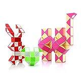 HJXDtech - Juego de 3 Juegos de Palitos mágicos Twist Fidget Snake Puzzle Intellect Toy Colección de Juguetes de 36 y 48 y 72 cuñas Reglas mágicas