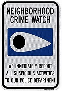 Neighborhood Crime Watch Sign 18