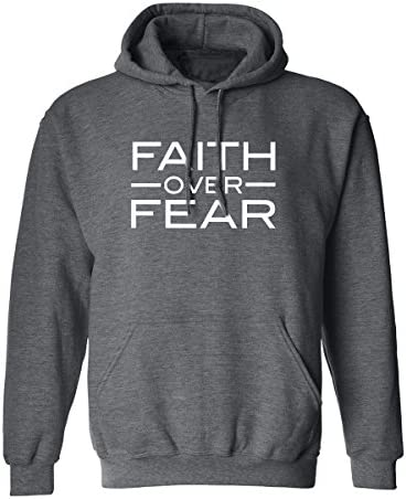 Faith Over Fear Adult Hooded Sweatshirt in Dark Heather X Large product image