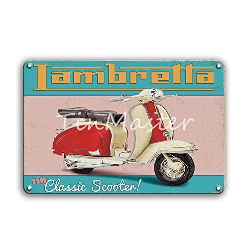 Jinlyp Retro TT Motocicleta Metal Cartel de Chapa Garaje hogar Sala de Estar decoración Placa de Metal Cartel 20x30 cm 50482