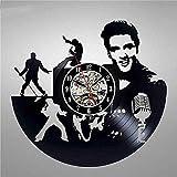 tjiaxu Reloj de Pared con Disco de Vinilo Elvis, diseño Moderno, Decorativo en 3D, Relojes...