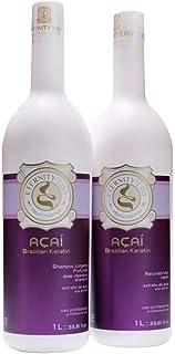 Acai Brazilian Keratin Hair Smoothing Full Kit (Shampoo and Keratin) Eternity 'Liss